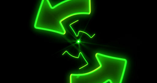 Green arrows endless animation Animation