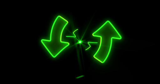 Green arrows endless animation Stock Video Footage