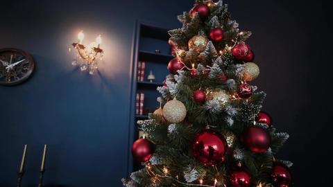 2019. New year 2019. New Year's decor, colorful garlands, Christmas socks Live Action