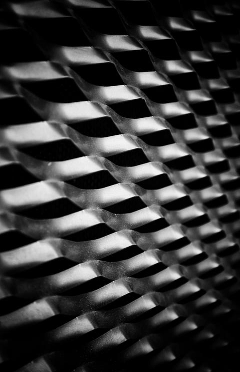 Metal background with curves Fotografía