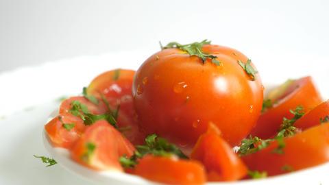 Blackhawk Rotation Of Tomatoes Stock Video Footage