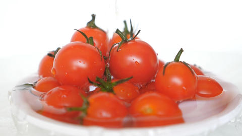 Convergent Fresh Ripe Red Tomato Animation