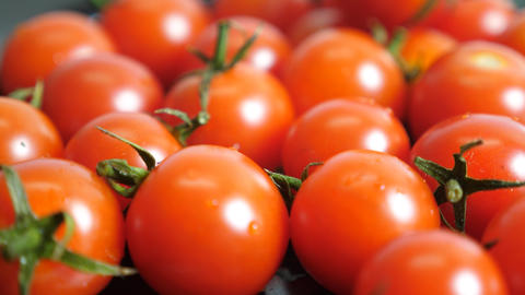 Face Tomatoes Rotating On White Background Animation