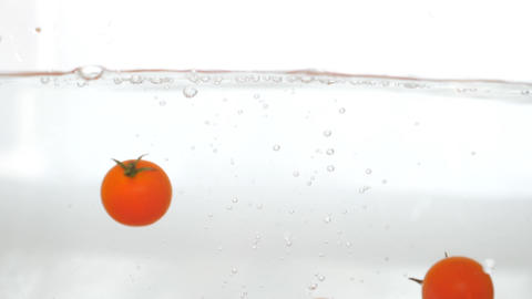 Falling Fresh Organic Tomatoes Animation