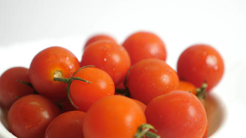 Fresh ripe red tomato Stock Video Footage