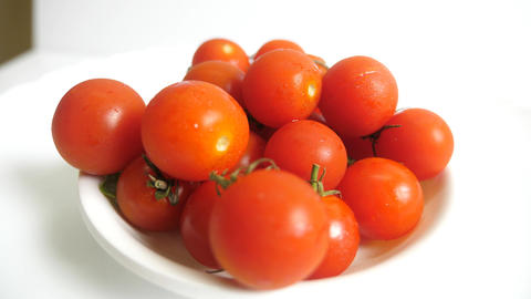 Coastal Tomatoes Rotating On White Background Animation