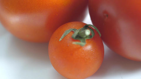Tomatoes Rotating on White Background Animation