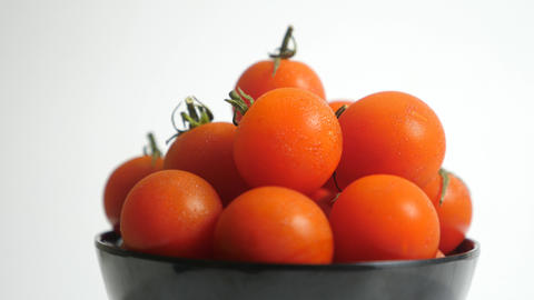 Tomatoes extreme close-up Stock Video Footage