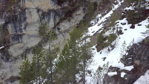 4K Aerial Drone view Landwasser Viaduct World Heritage Sight ビデオ