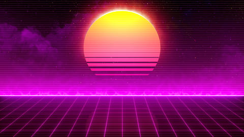 Retro 80s Sun Animation