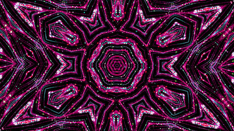 Kaleidoscope Red Pattern Loop Animation