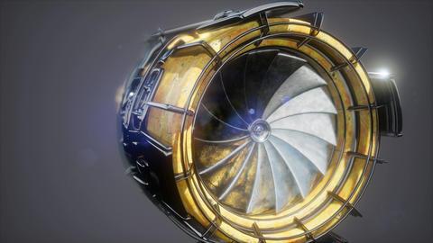 jet engine turbine parts Footage
