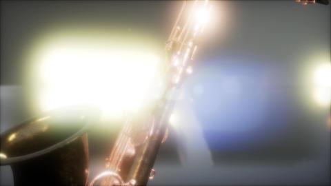 Close up Saxophone jazz instrument Live Action