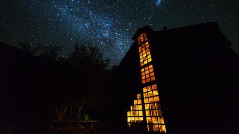 4K Timelapse of Milky Way in Huerquehue National Park ビデオ