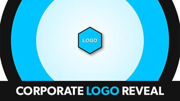 Flat Corporate Logo Reveal After Effects Template