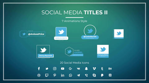 Social Media Titles II Motion Graphics Template
