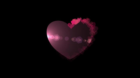 Hearts with hearts HD video Animation