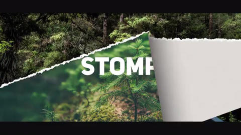 Torn Paper Stomp Opener After Effects Template
