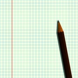 Pencil on a sheet of paper Vector Vector