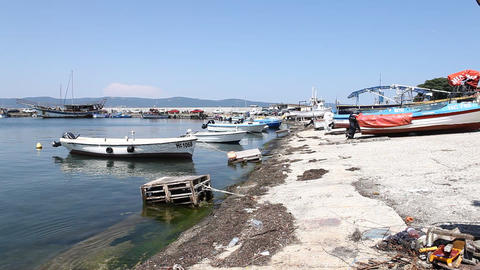 Boat club in Verna Bulgaria Footage