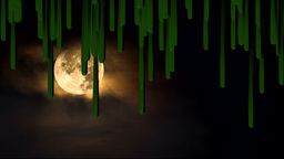 Green slime dripping at Halloween Footage