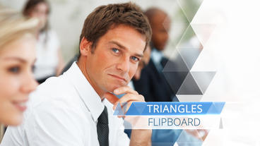 Triangle Flipboard - Apple Motion and Final Cut Pro X Template Plantilla de Apple Motion