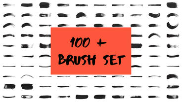 Ink Brush Stroke Set After Effects Template