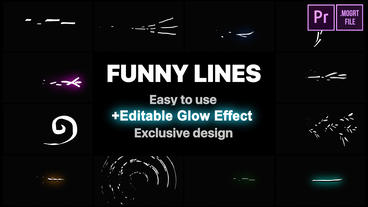 Flash FX Funny Lines Motion Graphics Template