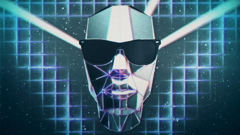 Retro Futuristic Heads VJ Loop Animation