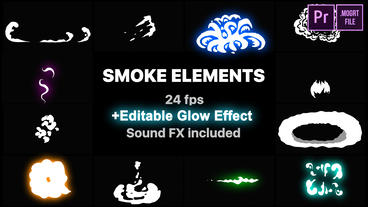Flash FX Smoke Elements Motion Graphics Template