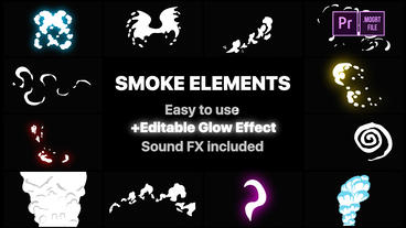 Funny Smoke Elements Motion Graphics Template