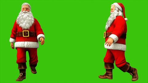 Santa claus is walking on green screen during Christmas. 3D Rendering Fotografía