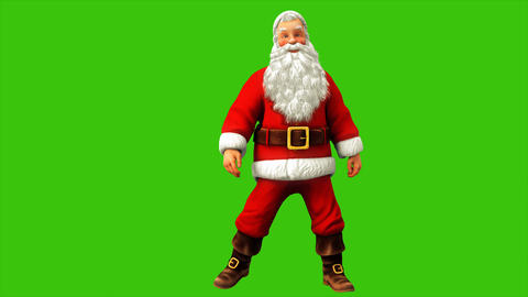 Santa claus dancing on green screen during Christmas 4k. Seamless loop animation Animación