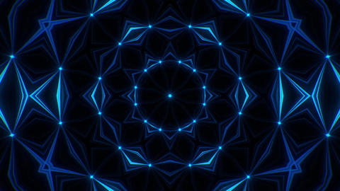 Blue Kaleidoscope Background VJ Loop Abstract Background Stock Video Footage