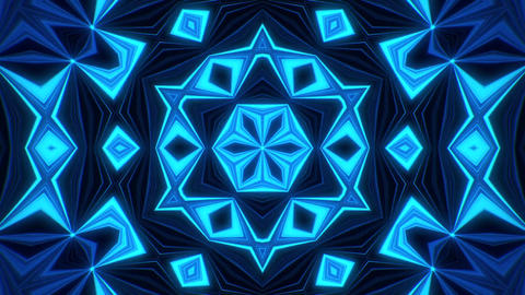 Blue Kaleidoscope Background VJ Loop Abstract Background Animation