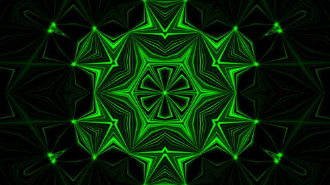 Green Kaleidoscope Background VJ Loop Abstract Background Animation