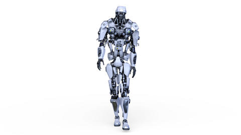 Robot Walk CG動画素材