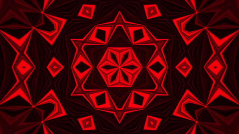 Red Kaleidoscope Background VJ Loop Abstract Background 애니메이션