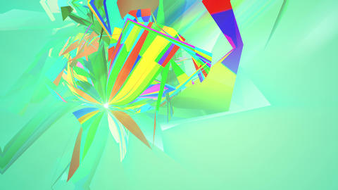 Spinning Colorful Triangles in Salad Backdrop Animation