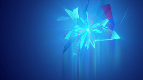 Whirling Crystaline Triangles in Blue Backdrop Animation