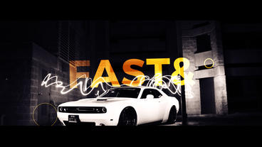 FAST AND FURIOUS OPENER After Effectsテンプレート