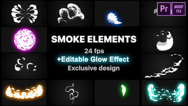 Smoke Elements Motion Graphics Template