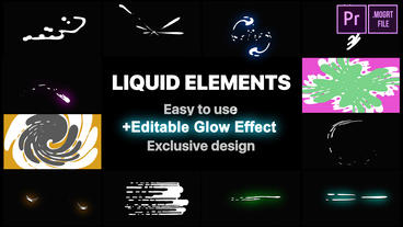 Liquid Motion Elements And Transitions Motion Graphics Template