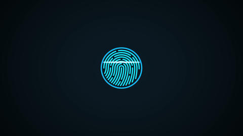 Fingerprint scan Animation