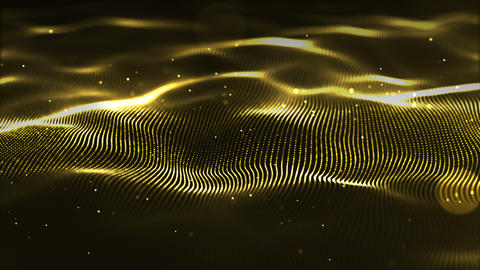 Gold wave background3 Animation