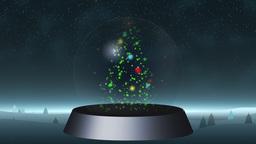 Christmas snow globe Footage