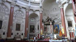 Malta Valletta interior view of famous catholic Carmelite Church GIF