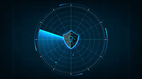 Technology security concept10 Animation