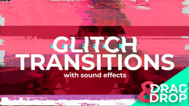 Abstract Glitch Transitions After Effects Template
