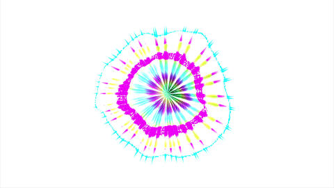 Abstract Coloured Pattern With White background 8 Animation